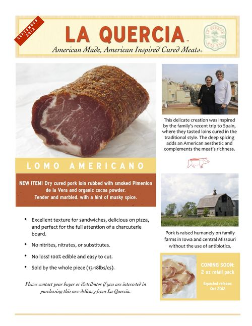 Sept La Quercia Newsletter 2012
