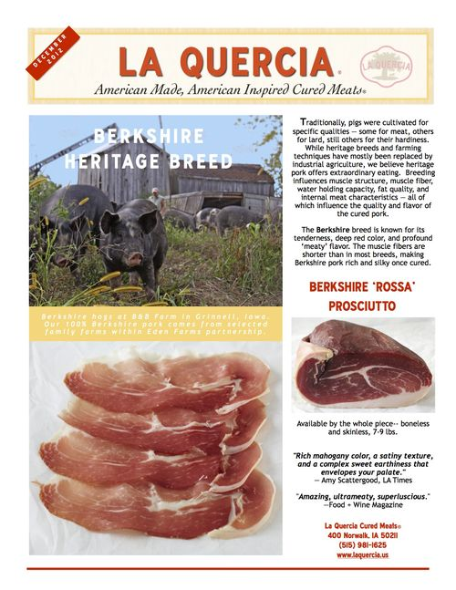 Dec La Quercia Newsletter 2012 low res